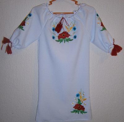 Сукня вишивана дитяча з квітами (Арт. 00433)