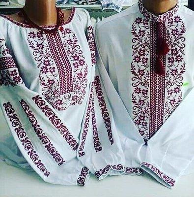 Пара вишиванок, жіноча та чоловіча вишиванка - комплект вишиванок для чоловіка і жінки (Арт. 02109