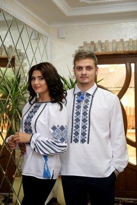 Пара вишиванок, жіноча та чоловіча вишиванка - комплект вишиванок для чоловіка і жінки (Арт. 02131)