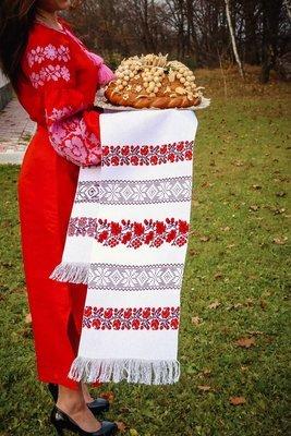Рушник вишиваний на домотканому полотні (Арт. 00599)