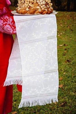 Рушник вишиваний білим по білому (Арт. 00026)