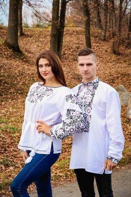 Пара вишиванок, жіноча та чоловіча вишиванка - комплект вишиванок для чоловіка і жінки (Арт. 02111)