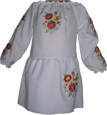 Сукня вишивана дитяча з квітами (Арт. 00321)