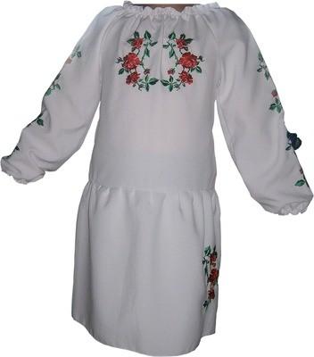 Сукня вишивана дитяча з квітами (Арт. 00322)