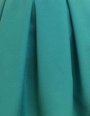 """Тканина для машинної вишивки """"Габардин"""" бірюзового кольору (Арт. 01512)"""