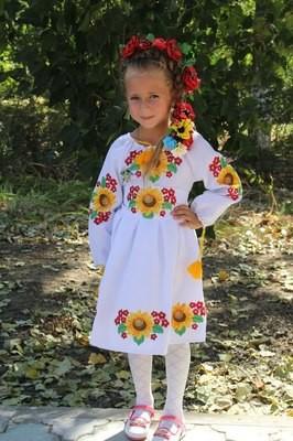 Сукня дитяча вишивана з квітами (Арт. 00608)