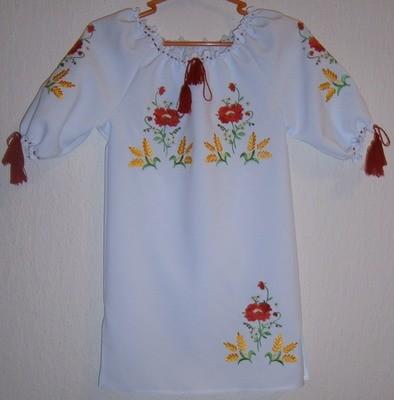 Сукня вишивана дитяча з квітами (Арт. 00434)