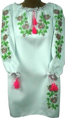 Сукня вишивана дитяча з квітами (Арт. 00618)