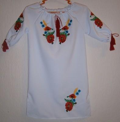 Сукня дитяча вишивана з квітами (Арт. 00432)