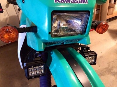 JNS Engineering KLR650 Auxiliary LED Light Mounting Bracket (1987-2007)