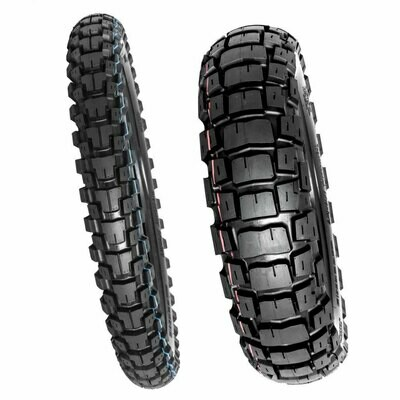 Motoz Tractionator Adventure Tire Set ( 130/80-17 & 90/90-21)