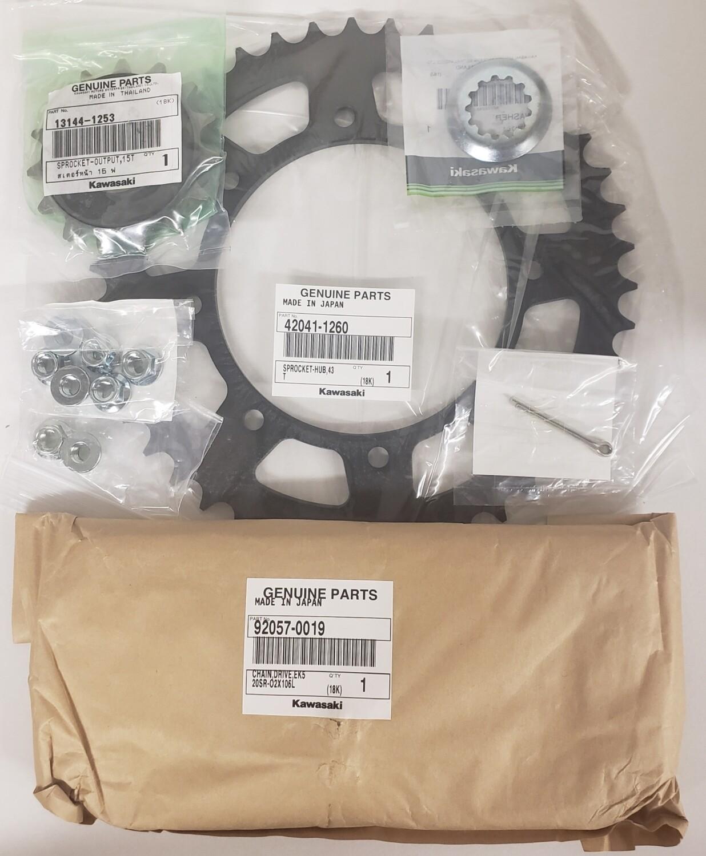 KLR650 OEM Chain & Sprocket Kit 1996-2018