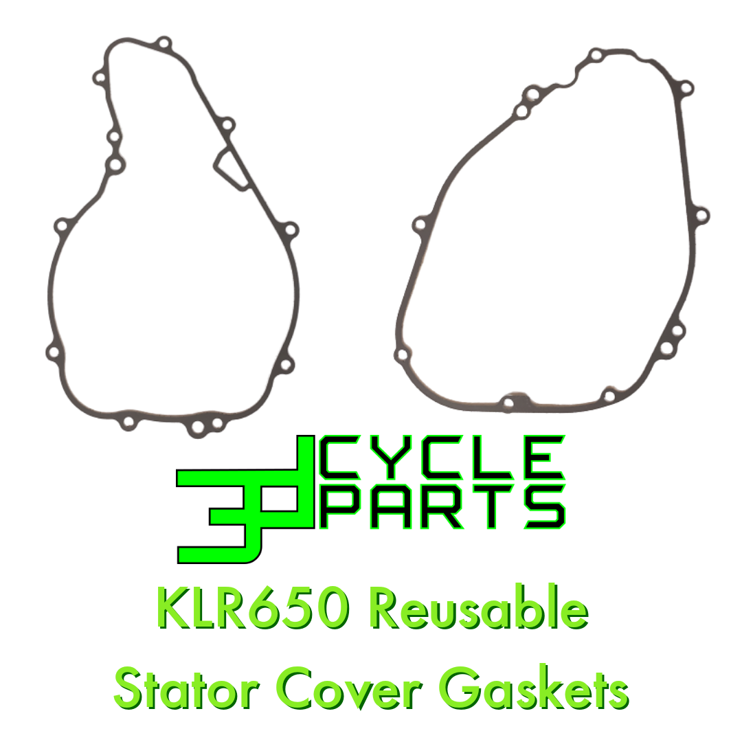 3D Cycle Parts KLR650 Reusable Inner & Outer Stator Gasket Set 1987-2018
