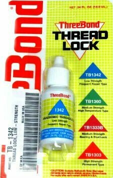 Threebond Thread Lock Blue 1342 Low Strength 10ml