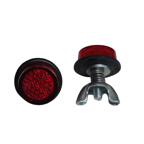 Chris Products Reflector Hardware 2 Pack Red