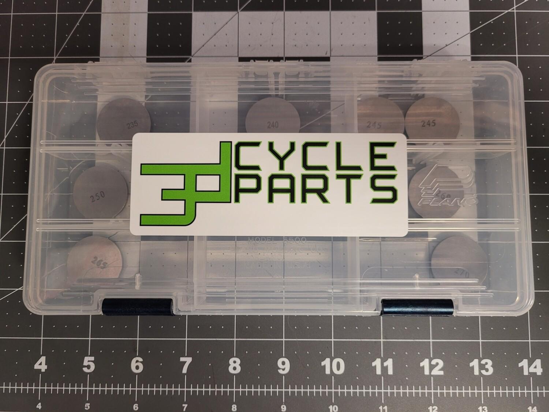 3D Cycle Parts KLR 650 Valve Shim Kit (12 Shims) 1987-2018