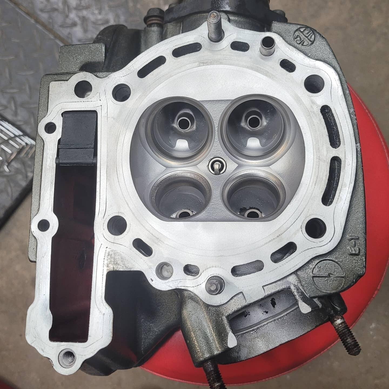 KLR650 Cylinder Head Refurbishing