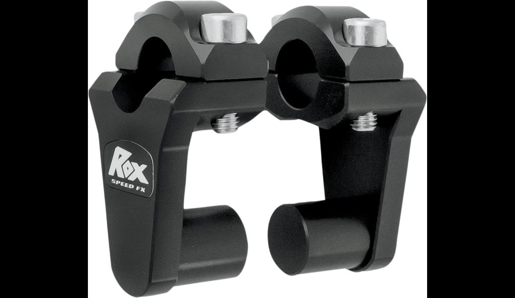 "Rox Speed FX 2"" Handlebar Risers Black 7/8"" OEM Bar Mount to Use  7/8"" Bars"