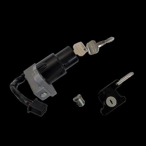Ignition Switch, Gas Cap Lock, Helmet Lock Set KLR650 1987-2007 OEM # 27004-5322