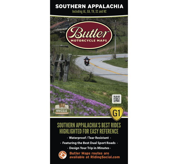 Butler Maps G1 Series Map - Southern Appalachia