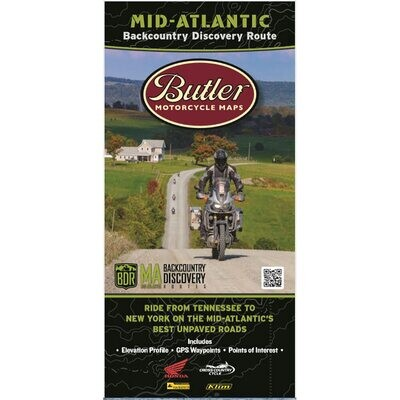 Butler Maps Backcountry Discovery Routes - Mid Atlantic (MABDR)