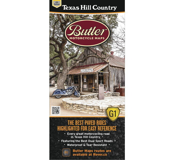 Butler Maps G1 Series Map - Texas Hill Country