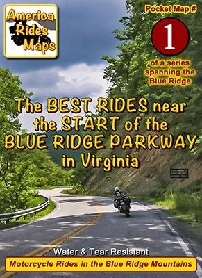 #1 Great Rides Near the Start of the Blue Ridge Parkway - Pocket Map