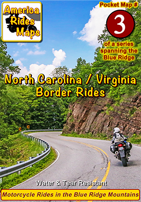 #3 North Carolina / Virginia Border Rides - Pocket Map