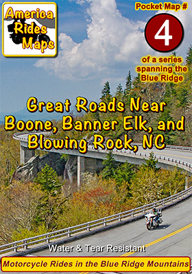 #4 Great Roads Near Boone, Banner Elk, and Blowing Rock - Pocket Map