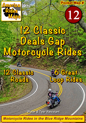 12 Classic Deals Gap Motorcycle Rides - Pocket Map