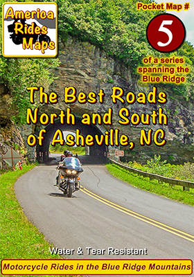 #5 The Best Rides North and South of Asheville, NC - Pocket Map