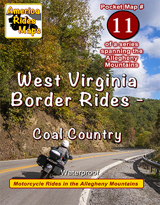 #11 West Virginia Border Rides - Coal Country - Pocket Map