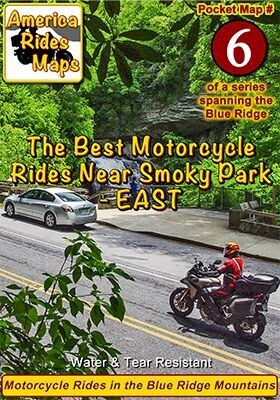 #6 The Best Motorcycle Rides Near Smoky Mountains Park - EAST - Pocket Map