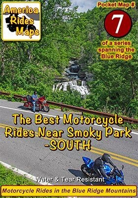 #7 The Best Motorcycle Rides Near Smoky Park - SOUTH - Pocket Map
