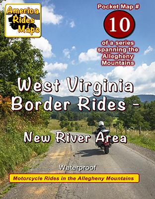 #10 West Virginia Border Rides - New River Area - Pocket Map