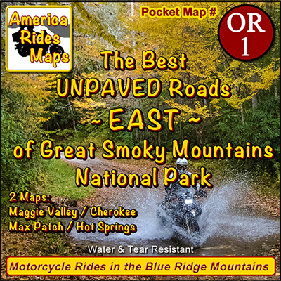 The Best Unpaved Roads EAST of Smoky Park OR1 - Map
