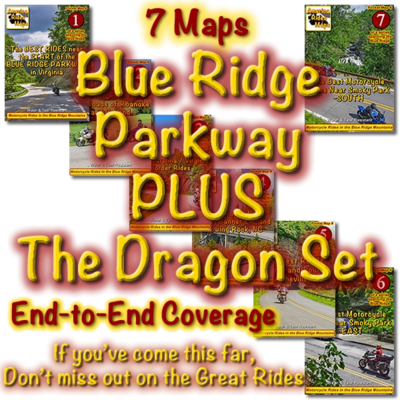 Blue Ridge Parkway & The Dragon Package 7 Map Set