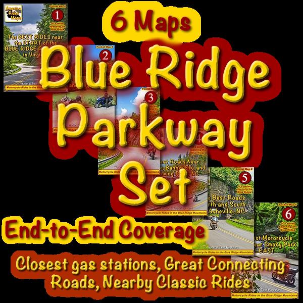 The Blue Ridge Parkway Set of 6 Maps