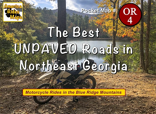 The Best UNPAVED Roads in Northeast Georgia OR4 - Map