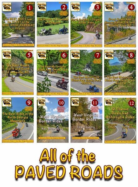 All the Paved Road Pocket Maps - 12 Map Set