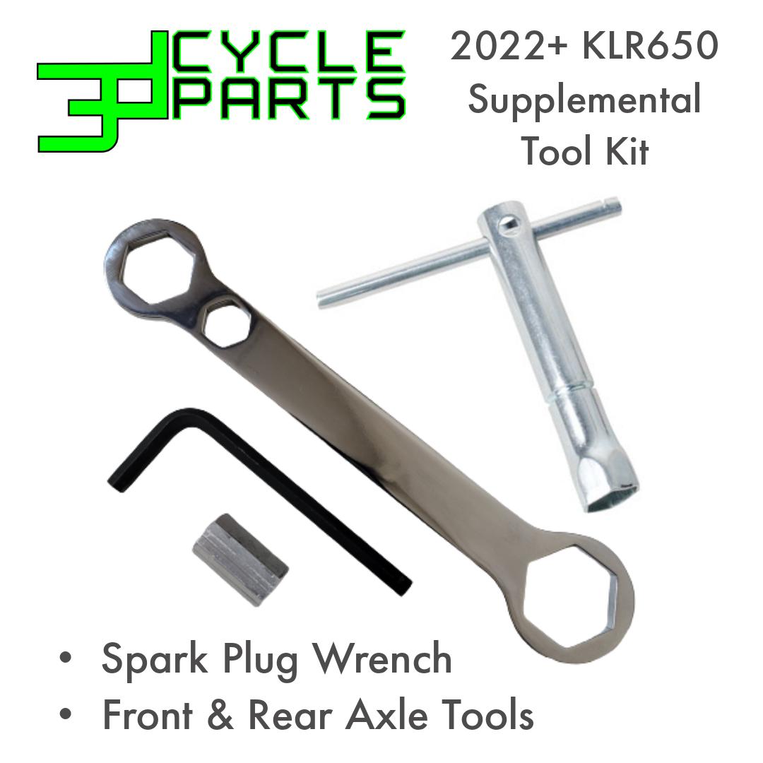 2022+ KLR650 Supplemental Tool Kit for Axles & Spark Plug