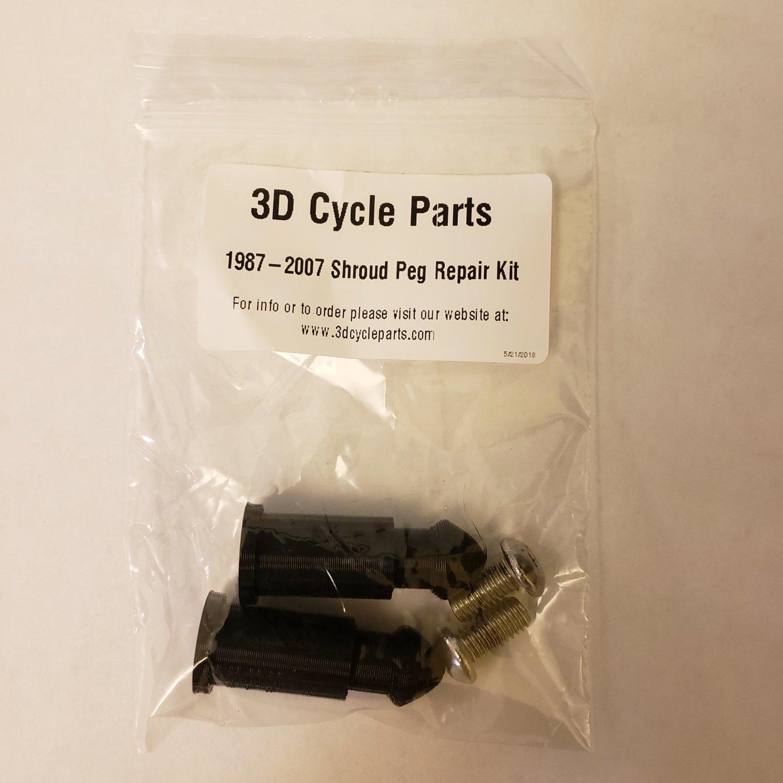 1987-2007 KLR 650 Shroud Peg Repair Kit