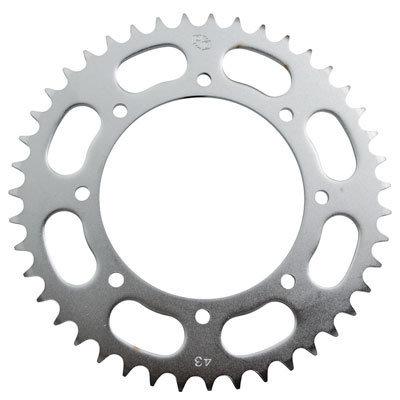 Primary Drive Rear Steel Sprocket 43 Tooth Silver - KLR 650 1987-2018 2022+