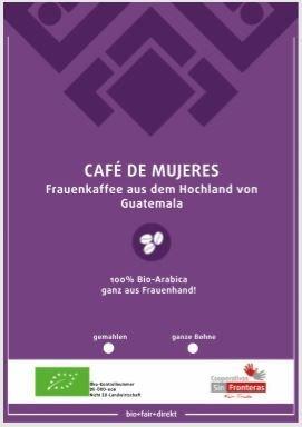 Frauenkaffee - Café de Mujeres BIO, 1 kg GANZE BOHNE