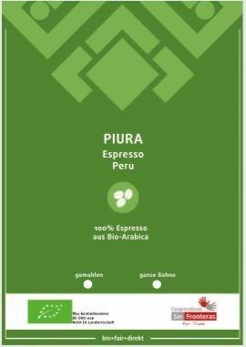 Piura Espresso BIO, 1 kg GANZE BOHNE