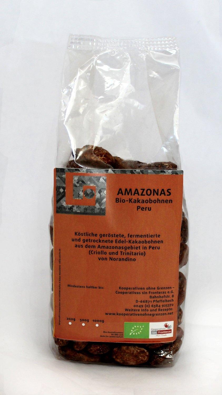 Amazonas Kakaobohnen BIO geröstet, 200 gr
