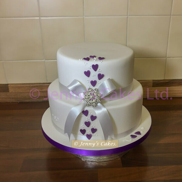 gretna two-tier Vintage style Wedding Cake
