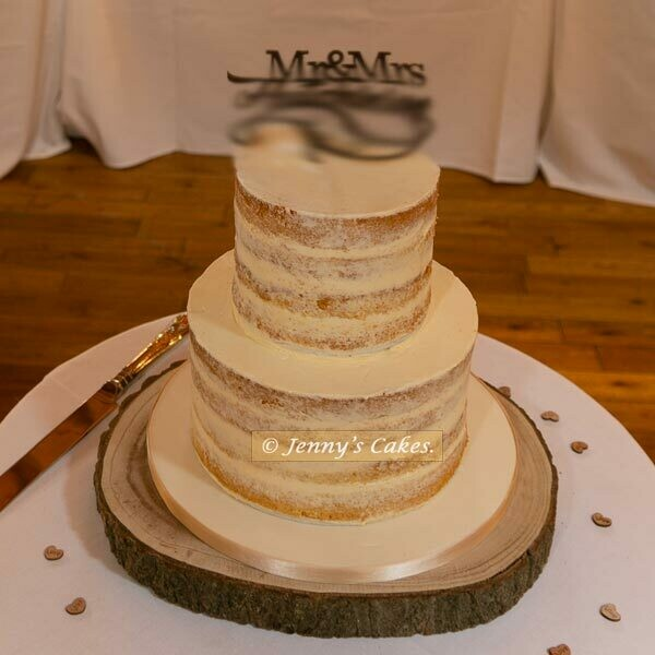 gretna two-tier Semi-Naked Wedding Cake