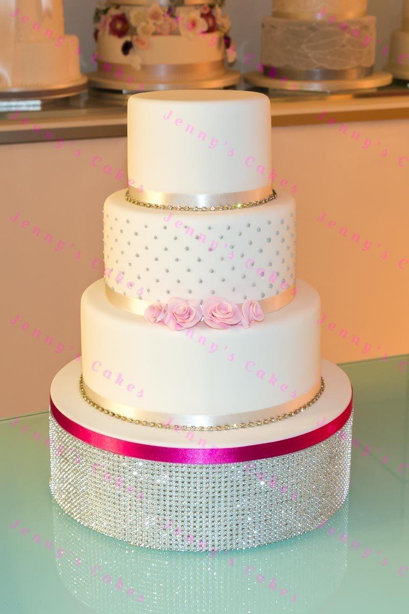 Budget Wedding Cake- Dotty Roses