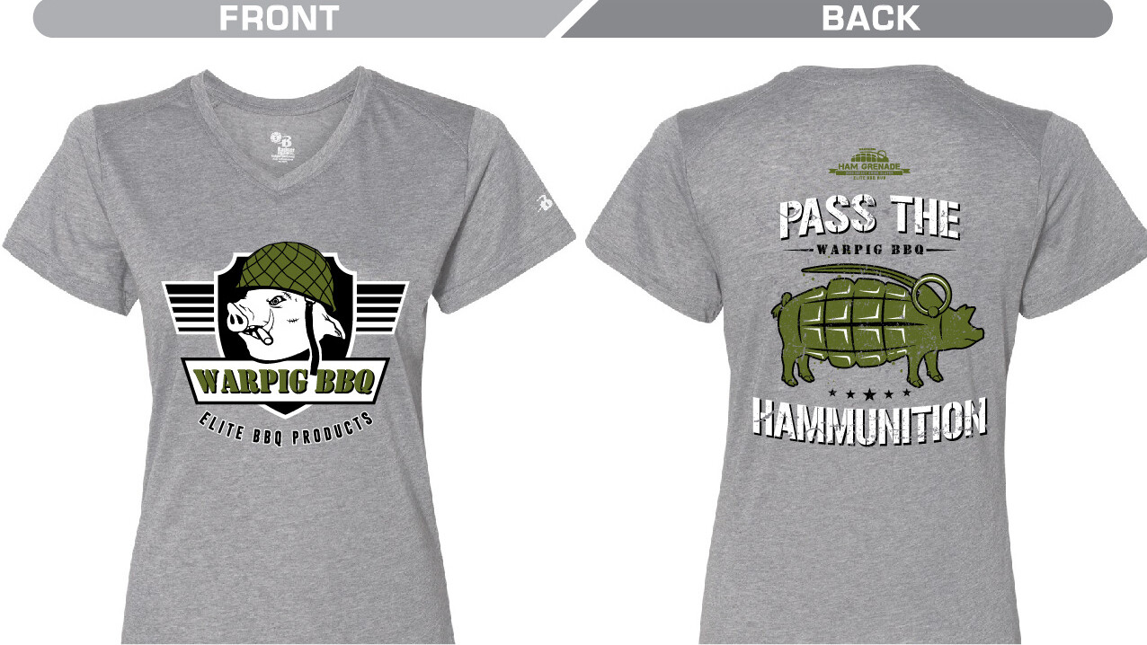 Ladies Grey Ham Grenade Shirt